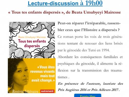 Lecture-discussion en présence de l'auteure